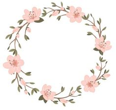Coronitas✨ Frame Floral, Flower Frame, Flower Crown, Wreath Watercolor, Watercolor Flowers, Planner Doodles, Wreath Drawing, Instagram Highlight Icons, Floral Border