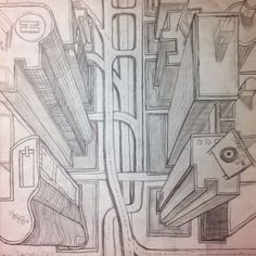1-pt perspective city 7th Grade