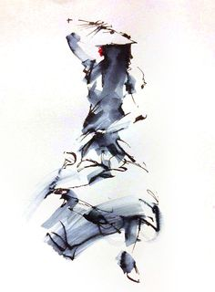 Flamenco dancer sketch by William Liao (Pen & Ink)