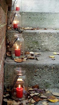 Repinned: Outdoor candles idea