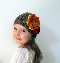 Autumn Girl Crochet Hat by HunkyDoriBoutique