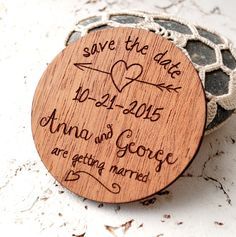 Wedding Save the date magnets, rustic save the dates, wooden save the date magnets made from mahogany wood.  Size: 2,5  This listing is for 25