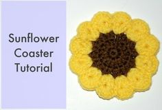 How to Crochet a Sunflower Coaster More