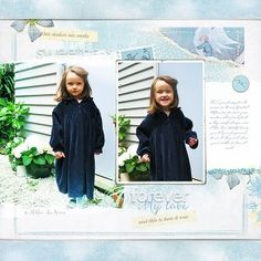 In the courtyard, Totally Trashed the Nursery paper, Lynn Grieveson digital scrapbooking at The Lilypad #digital scrapbooking
