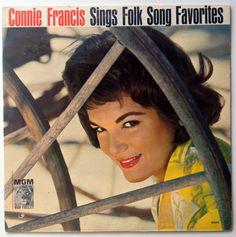 Connie Francis - Sings Folk Song Favorites LP Vinyl Record Album, MGM Records - E3969, Pop, Vocal, 1961, Original Pressing