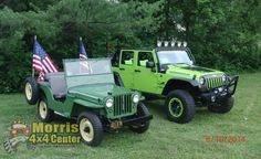 The green Jeep and his new family! They're gearing up for July 4th. Thanks for the update, Snyder family!
