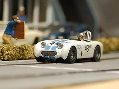 Airfix bodied Austin Healey Frogeye Sprite Slot car SCCA style | by Pete Shepherd