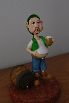 St Patrick's gumpaste figurine, via Flickr.