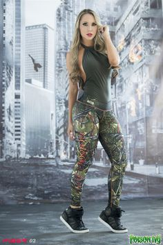 Poison Ivy - Super Hero Leggings - Fiber - Roni Taylor Fit - 1 These Poison Ivy Super Hero Leggings from Fiber are great for working out, casual wear or even dressing up for Halloween. You will love these exclusive leggings that are made from the highest