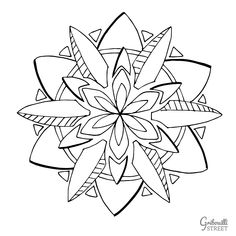 Printables, Illustration, Mademoiselle, Flowers, Street, Art, Mandala Coloring, Little Gifts, Art Background