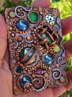 Mosaic polymer clay ACEO 2D by *MandarinMoon on deviantART