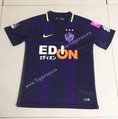 9e1abe5d584 2017-18 Sanfrecce Hiroshima Home Purple Thailand Soccer Jersey Top Soccer