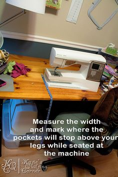 Sewing Machine Mat Tutorial I made this! It needs to be wider next time I make one of these!