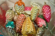 / glass christmas ornaments /