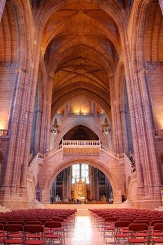 Liverpool Cathedral, Cheshire, England One of my favourite cathedrals anywhere. while i agree with you, Liverpool Cathedral has always been firmly in Liverpool, where it still stands today. Cheshire while in the North is a whole different place. Liverpool Cathedral, Liverpool History, Liverpool Home, Liverpool England, England Uk, Anglican Cathedral, Cathedral Church, Beatles, Beautiful Architecture