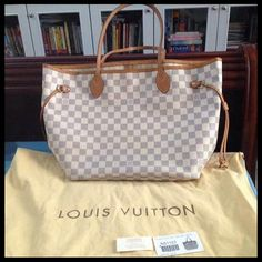 Louis Vuitton Neverfull PM White Shoulder Bags N51110