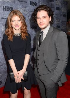 Pin for Later: Kit Harington and Rose Leslie Are Reportedly Dating — See the Evidence! They Were Still Staying Close at the Next Premiere in Seattle Their bodies are almost touching. You can feel the chemistry.