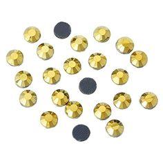 1000x Hotfix Strass Steine 5mm golden