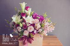 Habi flower, Habi studio, flower arrangement, birthday flower, Habi design, flower box, flower wooden box. Flower Boxes, Flowers, Wooden Boxes, Flower Arrangements, Floral Wreath, Wreaths, Studio, Birthday, Design