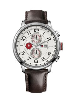 Tommy Hilfiger Watch, Men's Brown Leather Strap 1790858 See what's on sale from Macy's on Wantering. Fine Watches, Cool Watches, Watches For Men, Men's Watches, Wrist Watches, Brown Leather Strap Watch, Leather Watch Bands, Skagen, Fossil
