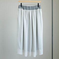 NO CONTROL AIR - NGLSK|強撚ポリエステルボイルギャザーイージースカート #l.gray 「着楽(チャクラ/ciacura)」 三重県四日市市で洋服と器を販売