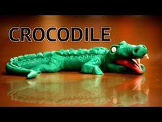 Fondant cake decorating - How to make a crocodile cake topper - YouTube