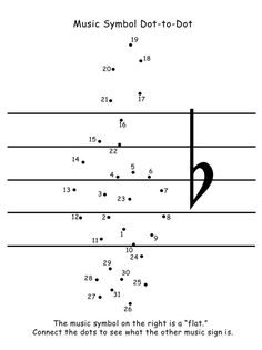 Free download! Treble clef dot-to-dot. Fun and helpful for beginners who always find the treble clef difficult to draw!!