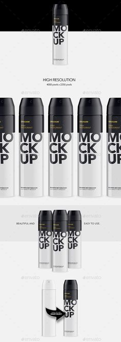 Metallic Spray Bottle Deodorant  Mockup — Photoshop PSD #exclusive #deodorant • Available here → https://graphicriver.net/item/metallic-spray-bottle-deodorant-mockup/19220063?ref=pxcr