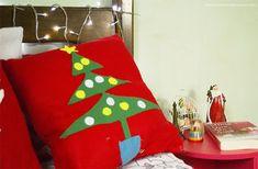 DIY - Almofadas decorativas para o Natal (sem costura)   Especial de Natal 2015 - Casinha Arrumada