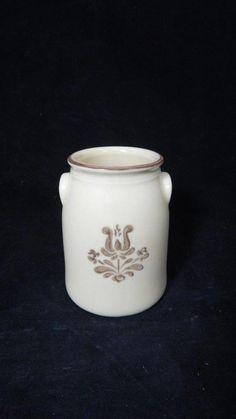 ONE VTG 1980s Pfaltzgraff Village Brown on Cream Miniature Milk Can Crock USA    eBay