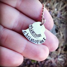 PERSONALIZED Hand Stamped Layered Silver heart necklace  on Etsy, $27.00