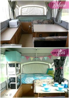 Pop Up Camper Remodel- 2 good ideas for more storage through  shelving