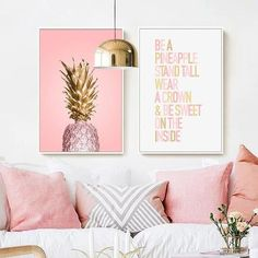 Buy Pink Ananas Posters Plants Pineapple Wall Art Pictures Nordic Canvas Landscape Painting Modern Living Room Print Home Decoration Living Room Prints, Living Room Modern, Modern Wall, Living Rooms, Wall Art Pictures, Print Pictures, Portable Photo Studio, Pineapple Art, Pineapple Wall Decor