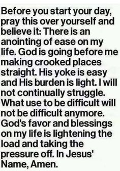 Before you start.your day pray this over yourself. All circumstances change nothing stays the same hang in there and fight for everything Christ Jesus died to give you. Prayer Times, Prayer Scriptures, Bible Prayers, Faith Prayer, God Prayer, Prayer Quotes, Spiritual Quotes, Faith Quotes, Bible Quotes