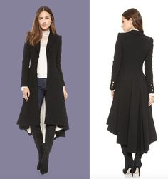 alice + olivia, 'Bain' pleated long coat, with Victorian-inspired silhouette, worn by Lucy Liu on Elementary.