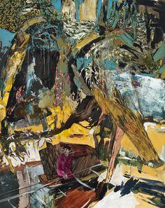 """wetreesinart: """"Hernan Bas (American, b. 1978), The Horticulturalists Dream (new species), 2012. Acrylic and silkscreen on linen, 152.4 x 122 cm. """""""