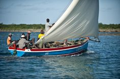 Dhow sailing in northern Mozambique...