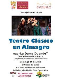 El Ayuntamiento organiza un viaje para asistir al Festival de Teatro Clásico de Almagro