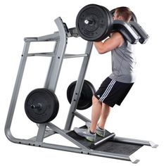 Body Solid ProClub Leverage Squat Machine with Rounded Calf Block and Plate Storage -- Awesome products selected by Anna Churchill Leg Press, Bench Press, Calf Machine, Home Made Gym, Squat Machine, Dream Gym, Plate Storage, Gym Machines, Weight Benches