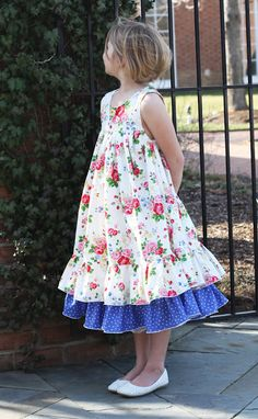 "Another new dress! This one is named ""Emmaline"" and it was the original dress I designed which then ""Daisy"" was inspired. Little Girl Dresses, Girls Dresses, Summer Dresses, My Baby Girl, Girly Girl, Sewing For Kids, Sewing Ideas, Girls Frock Design, One Clothing"