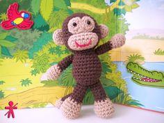 Crocheted by AmigurumisFanClub!!! Free pattern: http://www.amigurumitogo.com/2014/05/little-bigoot-monkey-free-amigurumi-pattern.html