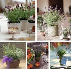 Lavender centrepiece ideas
