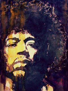 Jimi Hendrix by Paul Lovering #Painting #Art