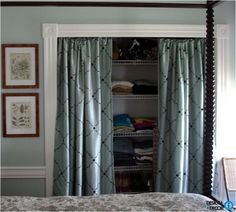 Diy Projects Curtain Rods Doors And Linen Closets