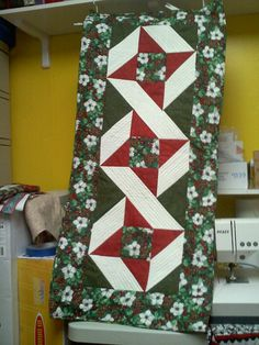 Christmas party exchange for the guild sewed and quilted it myself