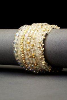 Andrea Gutierrez Summer Whites couture cuff