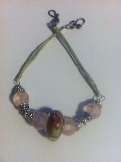 8 Inch Bracelet  Hemp  Beads  Hook & Eye Clasp available at The Bracelet Nook, $18.00