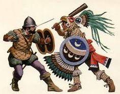 Conquistadores waren gelukzoekers en veroveraars. Zij trokken de binnenlanden in. In naam van de Spaanse koning bezetten zij de gebieden en bestreden zij de indiaanse volkeren. De indianen waren machteloos tegen de conquistadores.