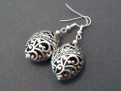 Silver Vine Earrings Silver Dangle Earrings Silver by CosmicRage, $9.95