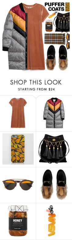 """""""Stay Warm: Puffer Coats"""" by tinkabella222 ❤ liked on Polyvore featuring Miu Miu, Christian Dior, Gucci, Nicolas Vahé, Coach and puffercoats"""